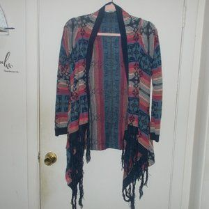Altar'd State Patterned Cardigan Size Small
